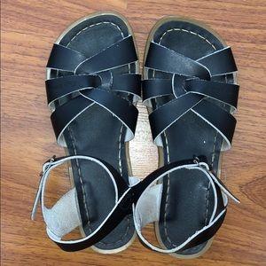 Black Salt Water Sandals